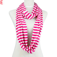 Nylon chevron scarf - Stripe cycle chevron infinity zebra candy color polyester scarf NL