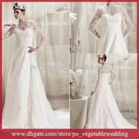 Wholesale Newest Design Restore Jewel Applique Sequin Emboridery A Line Court Train Wedding Dress