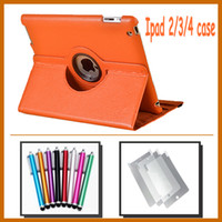 Wholesale 50pcs Leather case for ipad2 ipad Stylus pen Screen Protector