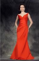Elegant 2013 Orange Red Trumpet Mermaid Off The Shoulder Ruc...