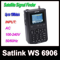 Wholesale SATlink WS WS quot LCD DVB S FTA Data Digital Satellite Signal Finder Meter
