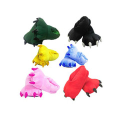 Wholesale house cotton slippers love apartment Leotard Adult Children s shoes cosplay animals claws sho