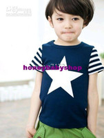 Cheap boys singlets tees shirts blouses t-shirts jersey tshirts tank tops sweatshirts kids outfits YX661