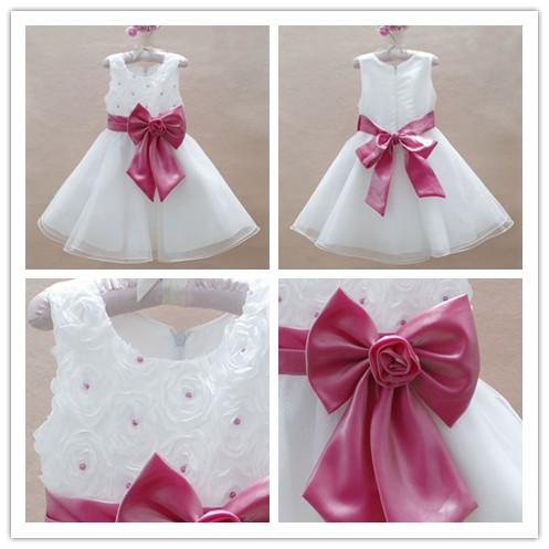 Baby Girls Wedding Party Dresses Prom Ball Princess Rose Dresses ...