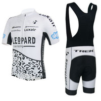 Wholesale cycling jersey new leopard Trek cycling Wear short sleeve clothing and cycling bib shorts