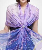 Wholesale 100 pure silk scarf silk printed shawl silk chiffon fabric scarf cm sell in piece
