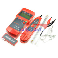 Wholesale Network LAN Telephone Cable Wire Length Line Tester E E coaxial cable RJ45 open amp short circuit ju