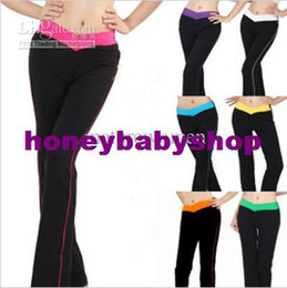 Wholesale Akimbo Colors Lady Dancing Pants Latin Yoga Sports Leisure Long Style Trousers Spring Autumn