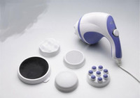 Wholesale New Professional Body Portable Massager Handheld Relax Spin Tone V or V Drop Shipping
