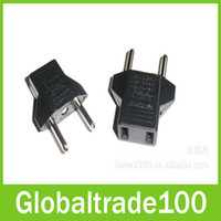 Wholesale USA US to EU Europe Plug Power Converter Travel Charger Adapter Wall Socket Free DHL Shipping