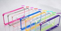 Wholesale Clear Crystal Cell phone Signal Circle Silicone Mobilephone Case Signal frame cover case for iphone5