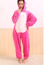 Wholesale Cosplay Costume girls Garment Coral Fleece Stitch Cartoon Animal Sleepwears Kigurumi Pajamas Animal