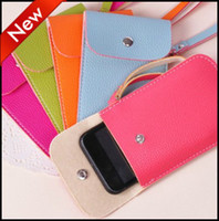 Leather For Apple iPhone For Christmas Cortex MP3 Cell Phone Cases Iphone Storage Organizer Card Receive Bags Coins Pocket Money Wallet