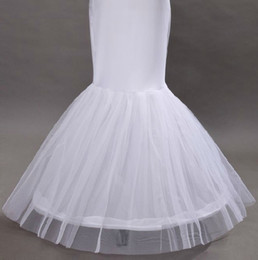 Wholesale Hot Cheap White Petticoat For Mermaid Wedding Dress Underskirt For Ball Gown Wedding Accessories