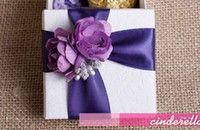 Wholesale 50Pcs Color Beautiful Wedding Candy Boxes Favors Gift Box The Wedding Accessories FFF