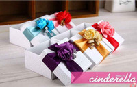 Wholesale FreeShipping Color White Wedding Candy Boxes Favors Gift Box Wedding Accessories