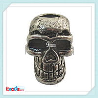 Wholesale Beadsnice ID high quality x11mm fashion beads skull beads anti silver jewelry