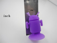 Wholesale android robot cell phone holder silicone universal use for iphone ipod nano free ship