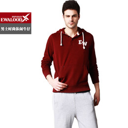 Wholesale With a hood sweatshirt male cotton pullover hoodie casual sportswear outerwear clothes men s clothing
