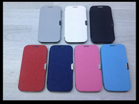 Wholesale Flip Magnetic Leather Case Skin Pouch Battery Housing Back Cover for Samsung Galaxy S4 SIV I9500