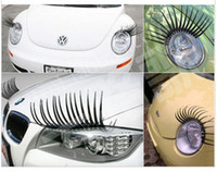 Wholesale 10pcs PR Black Auto Eyelashes Super Cute D Eyelash for Car Car Accessories