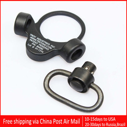 Troy Dual Side QD Sling Swivel Full Steel Mount Attachment For GBB Black With Opp Bag Free Shipping