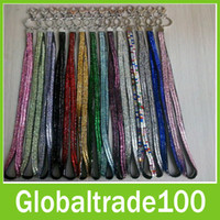 Wholesale Bling Bling Lanyard Rhinestone In Neck With Claw Clasp ID Badge Holder Keychain Chain Strap Free DHL