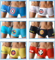 New Sexy Men Boxer Swimwear Swimming Trunks Shorts National ...