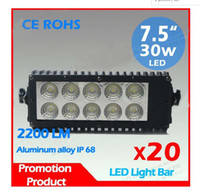 Wholesale 20 Light Bar Off road v W x4 head spotlight working light bars