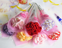 Wholesale Carnation Folded Towel Flower Wash Cloth Face Towel Wedding Flavors Gift Decorations