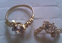 Women's Wedding us 7 8 High Quality CZ Ring Women's 18K GP Gold Engagement Rings Big Rhinestone Ring fine jewelry US 7 8