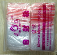 Wholesale MIC x80mm Plastic Poly Ziplock Lock Jewelry Bags Jewelry DIY