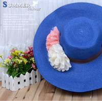 Wholesale 2013 Flowers weaving large along the beach on vacation a sunscreen round a costume JAFS