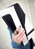 Women Mixed colors PU NEW Lady handbag women New Korean black white clutch purse shoulder bag #0407