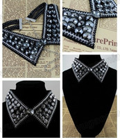 Wholesale MIC Fashion Jewelry Black Collar Black Crystal Charm Elegant Necklace Gorgeous Chain
