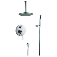 Wholesale In wall shower mixer with quot plastic shower head