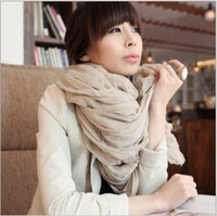 Wholesale Mixed selling candy scarves pure color elegnant gauze fabric long scarf woman s wraps