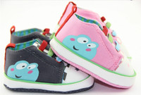 Wholesale 15 off color elastic laces screen printing frog casual shoes kid baby shoes toddler shoes pairs