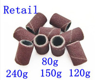 Wholesale 500pcs medium coarse sanding bands for electric nail drill for professional manicure pedicure