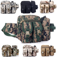Wholesale Outdoor Multi function Canvas camouflage military Army Sport Camp Waist Bags