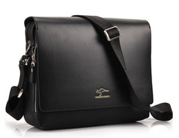 Wholesale Hot Sale Discount Shoulder Messenger Bag Men s Cross Body Briefcase PU Leahter Male Handbag brand Business bag ipad bag