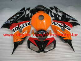 White orange REPSOL Injection fairings for HONDA 2007 CBR1000RR CBR 1000RR CBR1000 06 07 body repair fairing kits