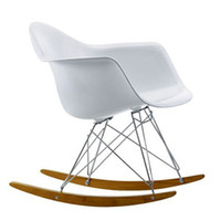 Wholesale Modern originality stools Eames Rocking plastic chair Armchair Dining bar Chair Office Metting Chair