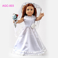 Wholesale Doll clothes wedding dress fits for American girl doll girl birthday gift AGC