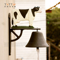 arts cow free shipping - American dairy cow bell tieyi wall decoration home decoration home decor