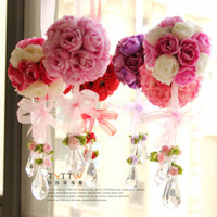 Wholesale Artificial flower rose ball silk flower Real Touch rose ball Home decorations for Wedding Party