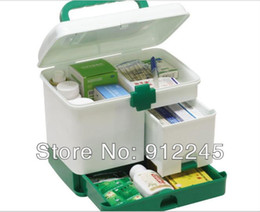 Wholesale First aid kit health case Kits for children Drug storage box Non toxic odorless green plastic