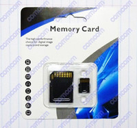 Wholesale 50pcs GB Class Micro SD TF Memory Card with Adapter Retail Package Flash SD SDHC Cards DHL Ship