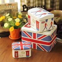 alpine europe - Afternoon tea metal cartoon storage box zakka tin piece set biscuit box