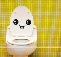 Wholesale cute Personalized smiling face wall stickers bathroom waterproof toilet stickers